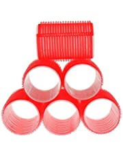 """HOME-X Professional Hair Roller, 1.5"""" Diameter, Self-Holding Hair Curlers (Red)"""