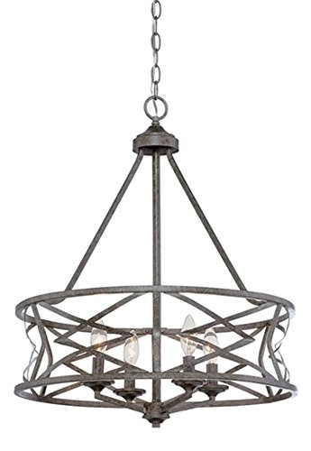 Lakewood Antique Silver Chandelier Drum Frame 21″Wx26″W