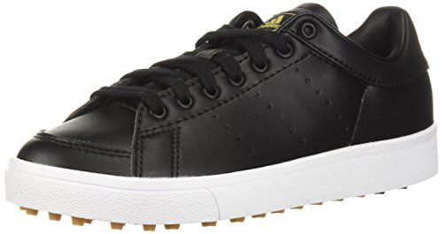 (adidas Unisex Jr. Adicross Classic Golf Shoe, core black/core black/ftwr white, 6 Medium US Little Kid)