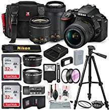 New Bundle - Nikon D5600 DSLR Camera with NIKKOR 18-55mm + 70-300mm Lenses W/ Total of 48 GB SD CARD, Telephoto & Wideangle Lens, Xpix Lens Handling Accessories with Basic Bundle