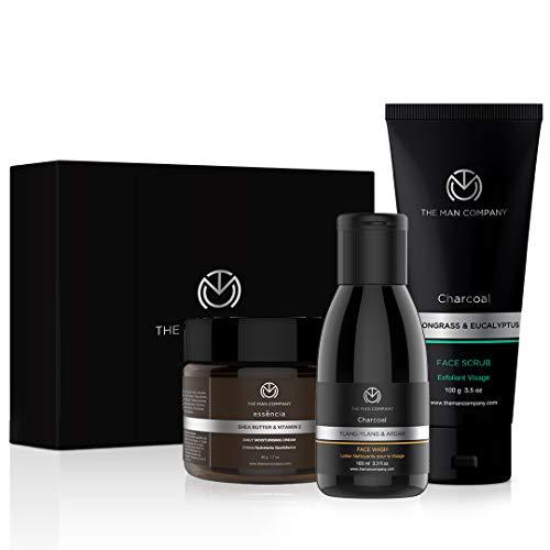 The Man Company Detan Facial Kit – Charcoal Face Wash, Charcoal Scrub, Daily Moisturising Face Cream | Best Detan Care…