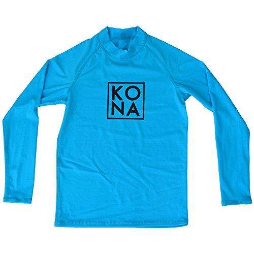 Kona Stack LS Little Boys Rashguard In Turquoise/White - Swimwear Kona