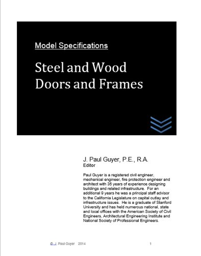 Model Specifications:  Steel and Wood Doors and Frames ()
