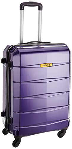 Safari Re-Gloss Polycarbonate 55 cms Dark Purple Carry-Ons (NEW-Re-Gloss-55-Purple-4WH)