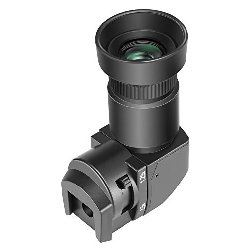 Neewer 1.25x-2.5X Right Angle Viewfinder with 8 Mounting Adapters for Canon, Nikon, Sony, Pentax, Panasonic, Minolta, Leica and Other Digital SLR Cameras