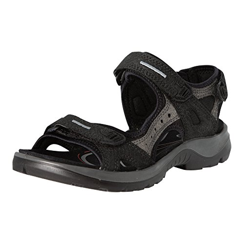 (ECCO Women's Yucatan Sandals, Black/Dark Shadow, 42 EU/11-11.5 M)