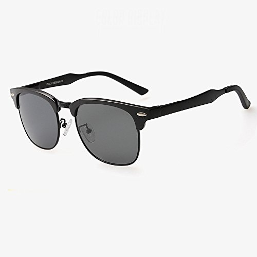 Trend Men Polarized Driving Fishing Classic All-match Sunglasses SUN022 Silver+Blue