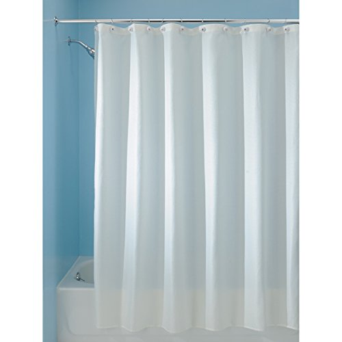 mDesign Woven Fabric Shower Curtain