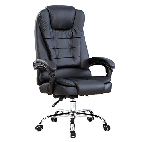High Back Big and Tall Executive Office Chair Ergonomic Comfortable Heavy Duty Leather Swivel Recliner Task Chairs With Lumbar Support (Big Tall Executive Swivel)