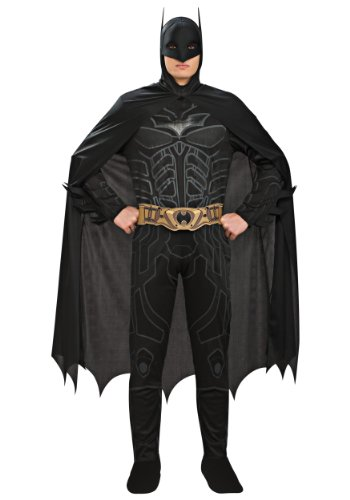 Batman The Dark Knight Rises Adult Batman Costume, Black, Large (Batman Black Knight Rises)