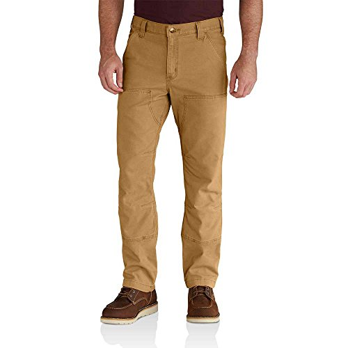 Carhartt Men's Rugged Flex Rigby Double Front Pant, Hickory, 36W X 32L (Rugged Pants)