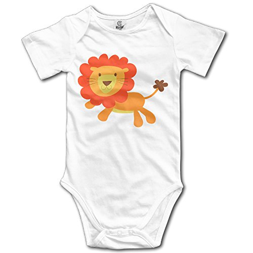 DW Baby Lion Short Sleeve Climb Clothes Romper White 18 Months
