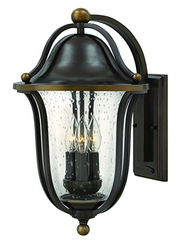 Hinkley 2645OB Traditional Three Light Wall Mount from Bolla collection in Bronze/Darkfinish, - Bolla Collection Outdoor Lantern