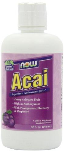 NOW Acai SuperFruit Juice, 32-Ounce ()