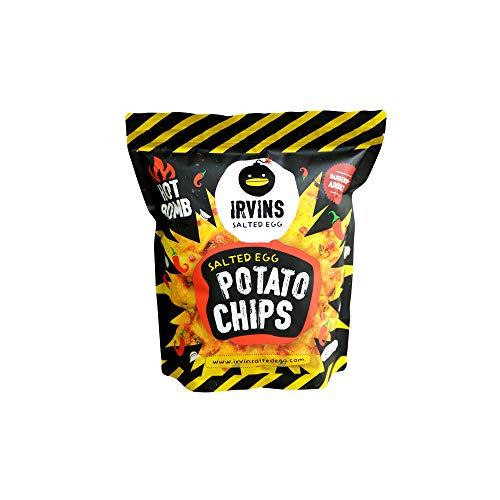 (IRVINS Salted Egg Potato Chips HOT BOMB 230g (LARGE SIZE))