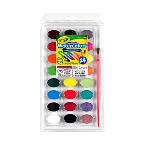 Crayola 53-0524-e-000 - Kit De Loisirs Créatifs - Palette De Peinture Lavable - 24 Couleurs