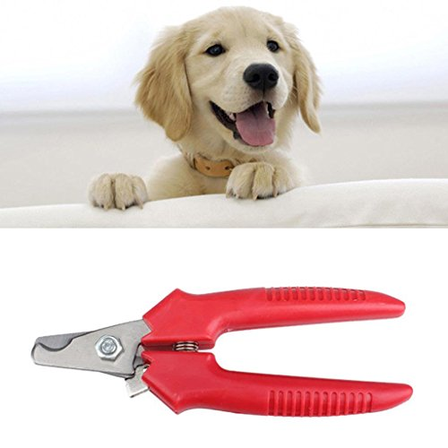 Dog & Cat Nail Clipper and Trimer Stainless Steel Red