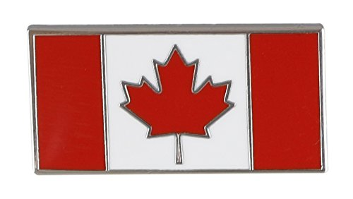 Canadian Flag-Maple Leaf - Enamel Lapel Pins- Bulk (10 Pins) Silver Maple Leaf Pin