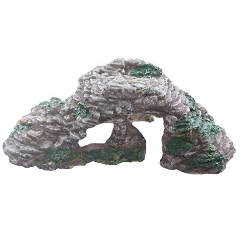 - Emours Turtle Hideout Basking Rocks Bearded Dragon Accessories Reptile Amphibian Fish Tank Decor Small