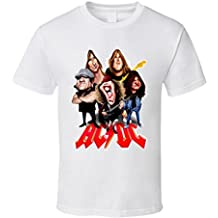T-Shirt Bandit ACDC Rock N Roll Band Caricature Vintage T Shirt
