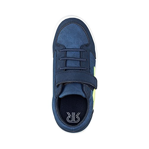 La Redoute Collections Big Boys Low Top Touch N Close Trainers Blue Size 37 JIfwIlajYP