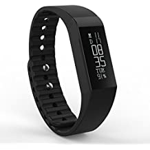 Toprime® Fitness Tracker with Multi-Functions USB Charge Lens Replaceable Black