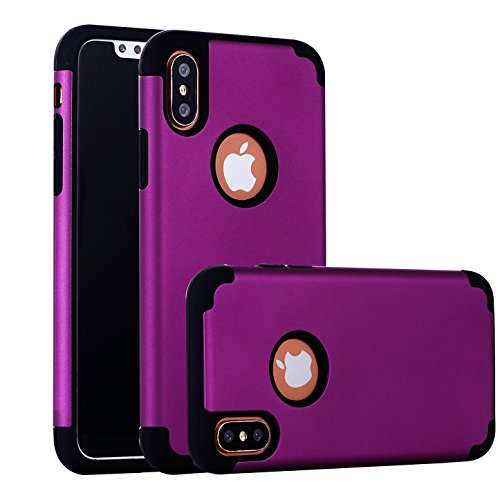 iPhone X Case, CaseHQ Slim Silicone TPU+Hard PC 2in1 Dual Protective Bumper Shock-Absorbing Scratch-Resistant Rugged Drop Protection Cover for iPhone 10 / X 5.8