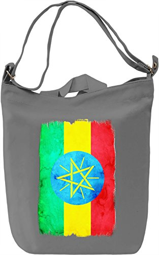 Ethiopia Flag Borsa Giornaliera Canvas Canvas Day Bag| 100% Premium Cotton Canvas| DTG Printing|