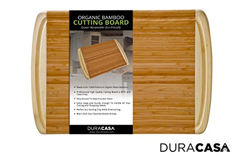 Two Tone Granite Green - Duracasa Bamboo Cutting Board | Large 18