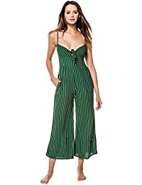 The Brand Women's Wovens Tie-Front Top Jumpsuit Swim Cover Up