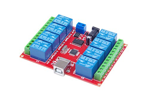 KNACRO 12v 8 Channel USB Relay Module Programmable Computer Control omputer USB control switch/driver/PC Intelligent Controller ()
