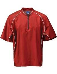 Premier Piped Short-Sleeved Batting Jersey (Black, Medium)