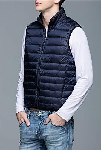 Down Packable Winter Lightweight Puffer Navy Lightweight Vest Blue Men's Gocgt qwXRv