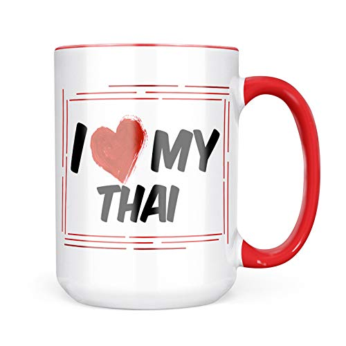 Neonblond Custom Coffee Mug I Love my Thai Cat from Thailand 15oz Personalized Name