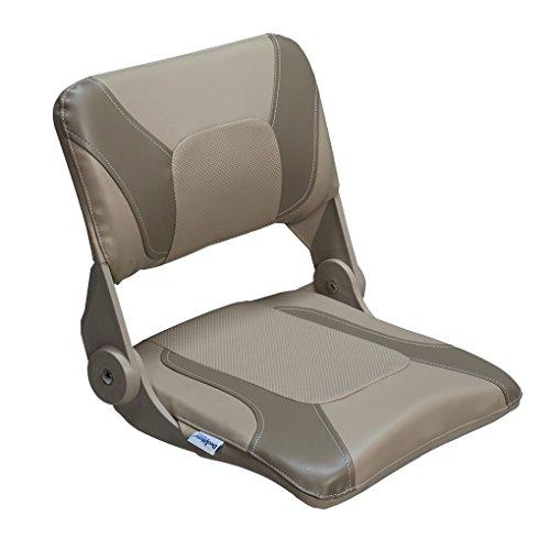 DeckMate Compact Folding Fishing Seat (Tan & Beige)