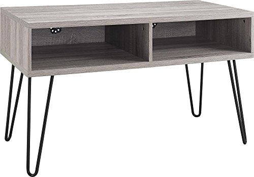 "Altra Owen 42"" Retro TV Stand, Sonoma Oak/Gunmetal Gray"
