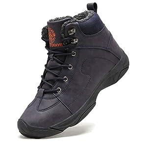 Axcone Homme Femme Chaussures Trekking Randonnée Bottes de Neige Hiver Imperméable Outdoor Boots Fourrure Cuir…