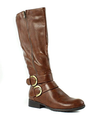 LifeStride Women's X-Must Riding Boot, Tan Tumbled, 7.5 M US