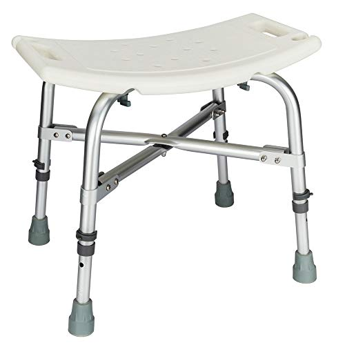 Mefeir 450LBS Medical Shower Chair Bath Seat with Upgraded Framework,Heavy Duty Transfer Bench Stool SPA Bathtub Chair, FDA Approved No-Slip Adjustable 6 Height
