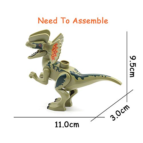 (yaning Dinosaur Model Egg Big Particles Building Blocks Toys DIY Accessory Animals Park Set Brick Child Gift Compatible with)