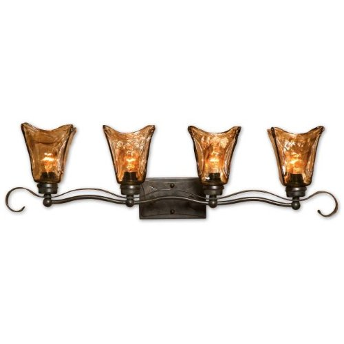 Oil Rubbed Bronze Vetraio Four-Light Bath (Uttermost Bronze Vanity)