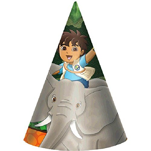 Frisky Diego's Biggest Rescue  Paper Cone Hats Birthday Party Supply, 6