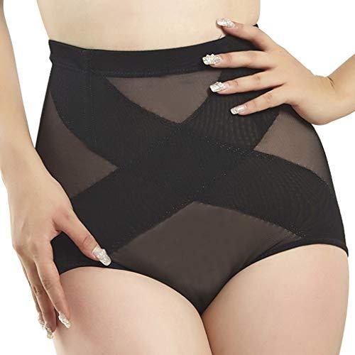 Kangma Women Lace Underwear Traceless High-Waist Tummy Control Panty Slim Butt Lifter Bodysuit