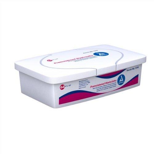 Dynarex 1318 Personal Cleansing Adult Washcloth Tub - 8/64/Case