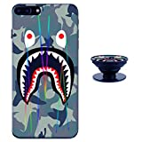 Sup Camouflage iPhone 6 Plus / 6s Plus Case Shiny Laser Style Protective TPU Cover Soft Rubber Silicone with Phone Holder Bracket Compatible iPhone 6/6s Plus (5.5 inch)