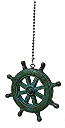 Nautical ocean BEACH theme ceiling FAN PULL light chain extension (Ship\'s Wheel)