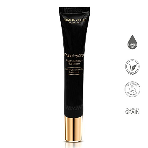 Simon & Tom Pure Hydra Triple Correction Revitalizing Eye Roller - Reduces Dark Circles and Puffiness + Vitamin C 15 ml. / 0.5 fl.oz.