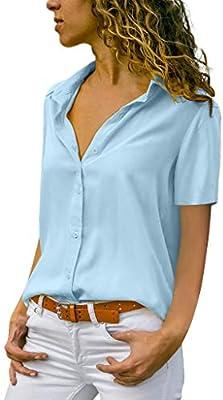 Blusa Mujer,Wave166 Blusas Camisetas de Gasa Ropa de Mujer Suéter ...