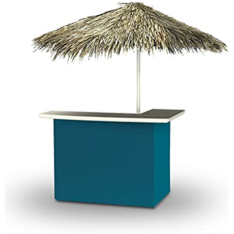 Best Of Times Portable Standard Solid Bar Table Sea Blue Palapa