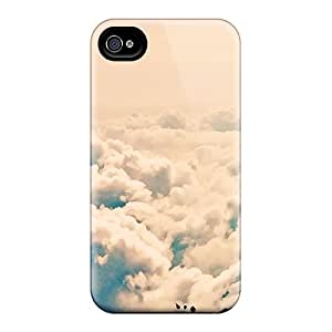 Iphone High Quality Tpu Case/ Love In The Clouds DPLCt7206ywuDx Case Cover For Iphone 4/4s